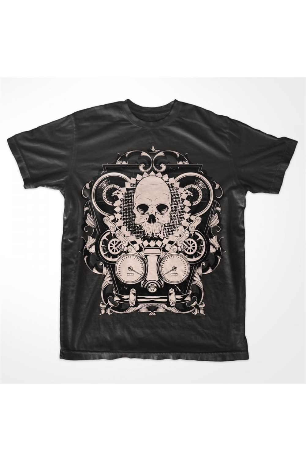 Skulls Men Printed T-shirt 4016